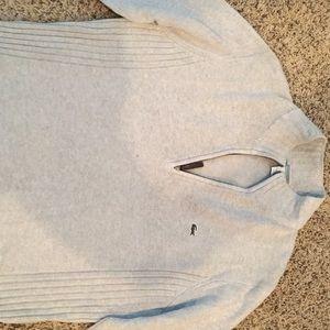 Lacoste Half Zip Light gray sweater